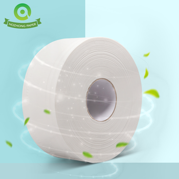 1/2/3/4 ply White Virgin Wood Pulp Jumbo Roll Bathroom Tissue Paper (Pack of 12)