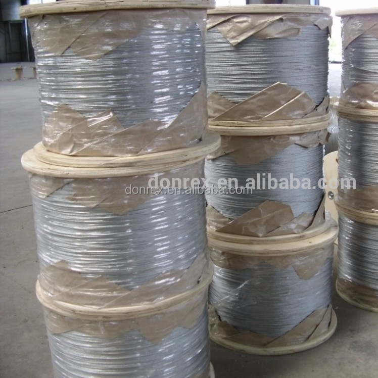 Electro Galvanized Steel Wire Rope for Equipments