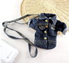 Fashion denim fabric jacket style pouch bag case for phone