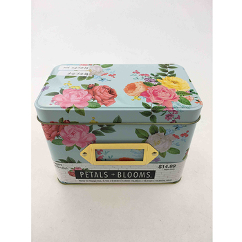 Hot selling custom recipe tin box