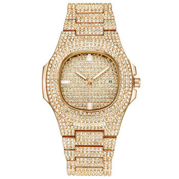 Life Water Resistant Mens Watches ,Luxury Brand Wristwatch,Crystal Diamond Quartz Watch