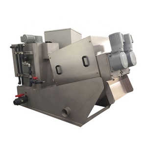Tianniwei factory price cow dung stacked spiral sludge treatment screw press dewatering machine