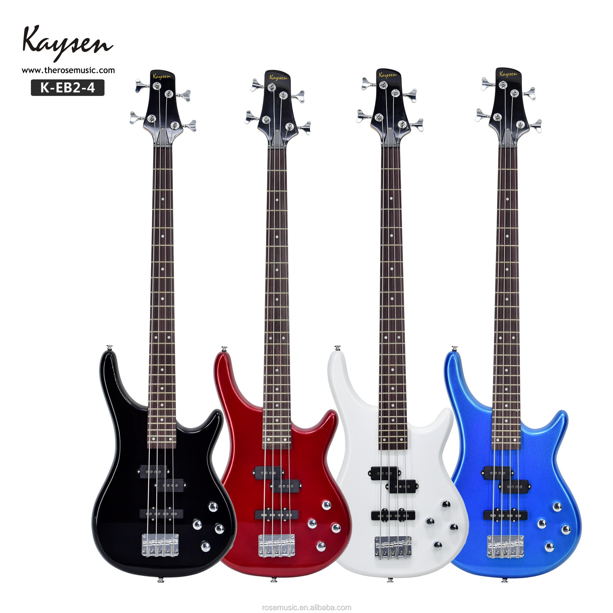 Customized 4 string cotton body colorful  bass guitar