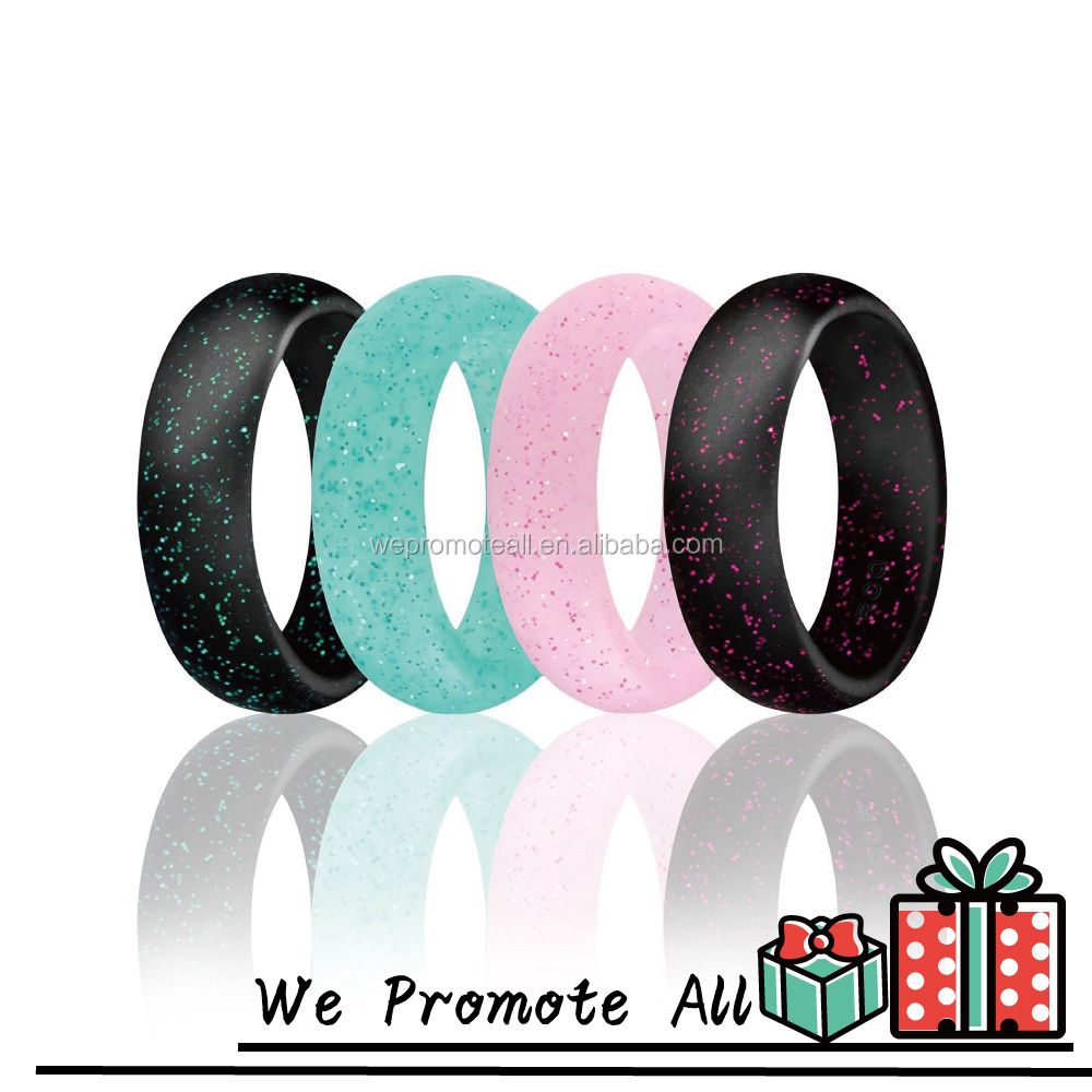 glow in the dark wedding rings flexible wedding ring Glow in the dark wedding rings Wholer Silicone Wedding Ring Glow In The Dark