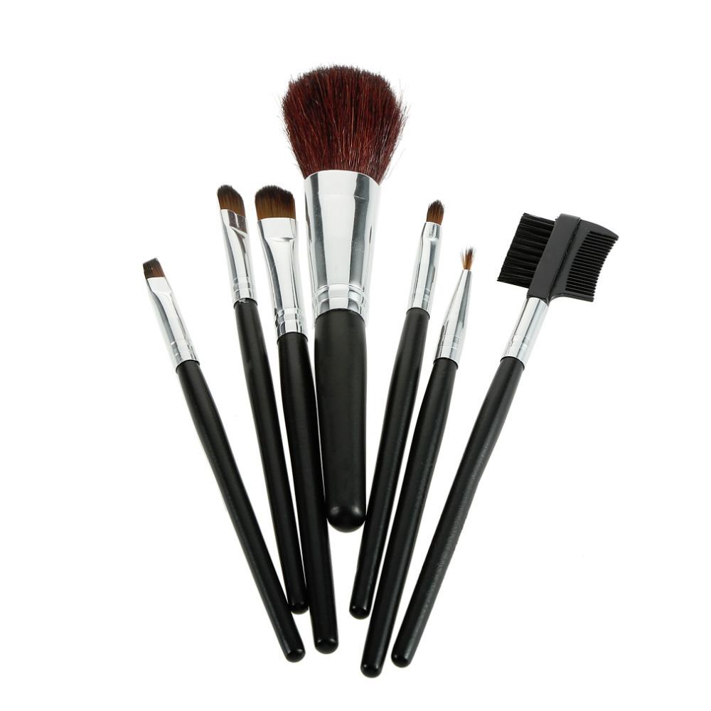 Bolayu 13pcs 1set Cosmetic Makeup Brush Brushes Set: 1set 7 Pcs Professional Cosmetic Makeup Brush Brushes Set