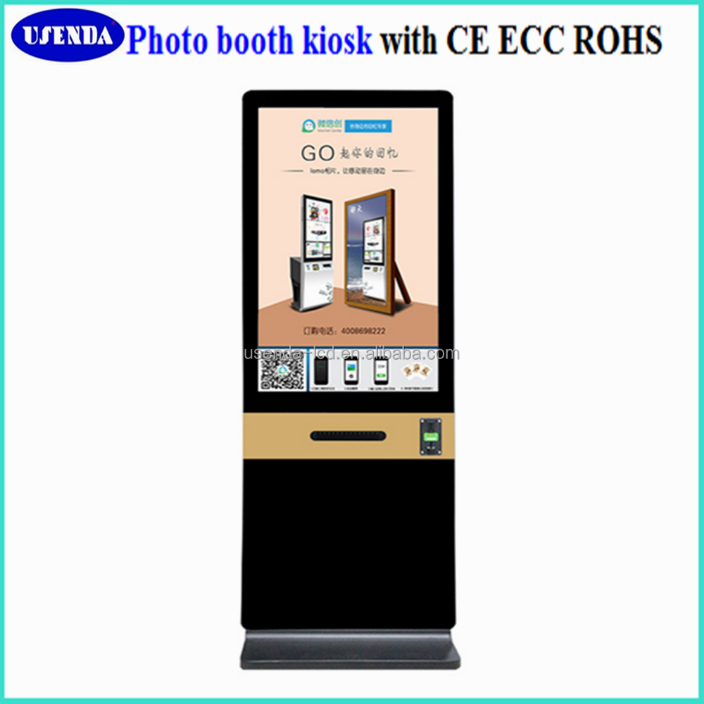 42inch can movable photo booth kiosk for wedding events
