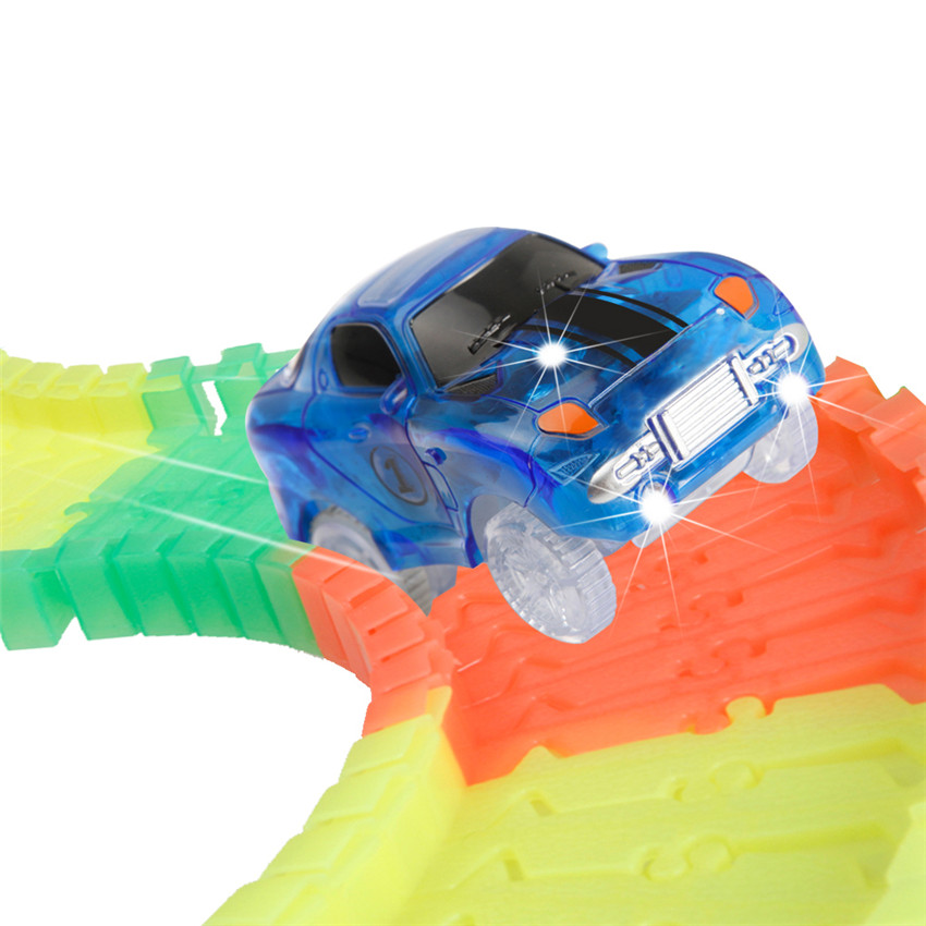 Hot Sale DWI Night Light DIY Track Racing Electric Car Magic Car Track for Kid Toys