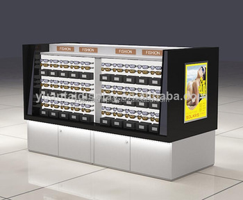 Bon China Manufacturer Eyeglasses Cabinet Locking Sunglass Display Cases ,  Sunglass Kiosk Factory