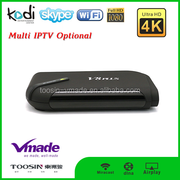 Quad Core Android 4.4.2 software free download 5G Wifi/100M RJ45 LAN Smart Unlock Cable TV Box