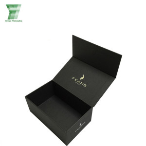 Magnetic Closure Black Foldable Paper Box Custom Packaging/Packaging Gift Boxes Custom Logo