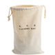 Custom Storage Packing Logo Printed Cloth Drawstring Cotton Laundry Bag