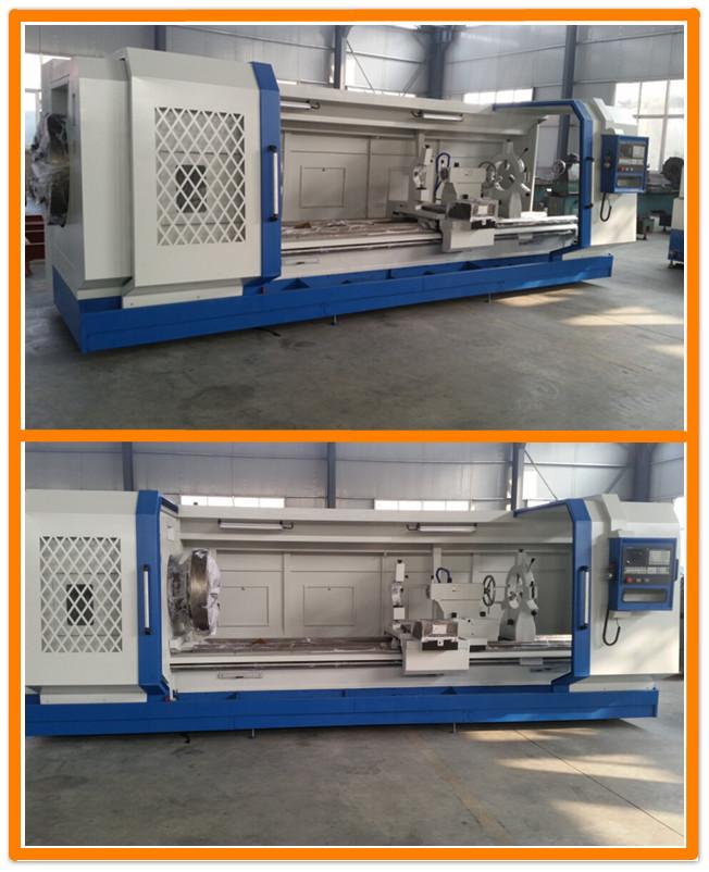 QK1327 Hohe Qualität Heavy Duty Elektrische Rohrgewinde CNC Drehmaschine Für Große Loch Rohr Casting