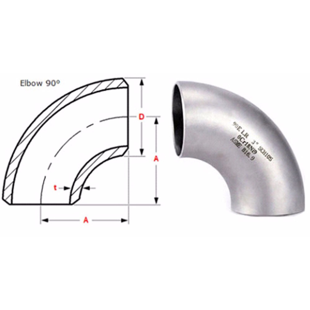 Stainless steel 90 degree Pipe fitting prices elbow