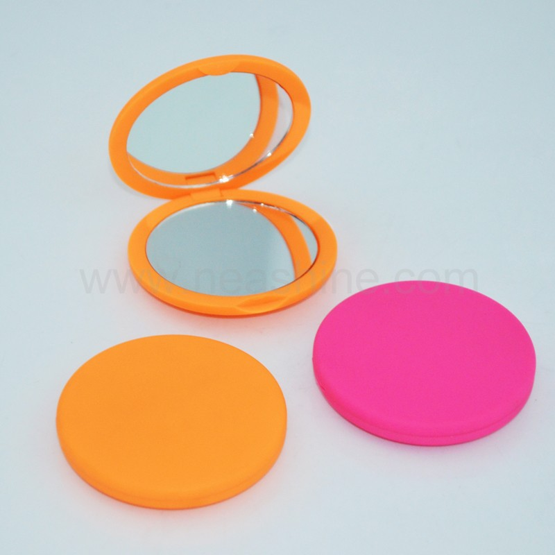 Wonderful round plastic compact make up pocket mirror,rear view mirror