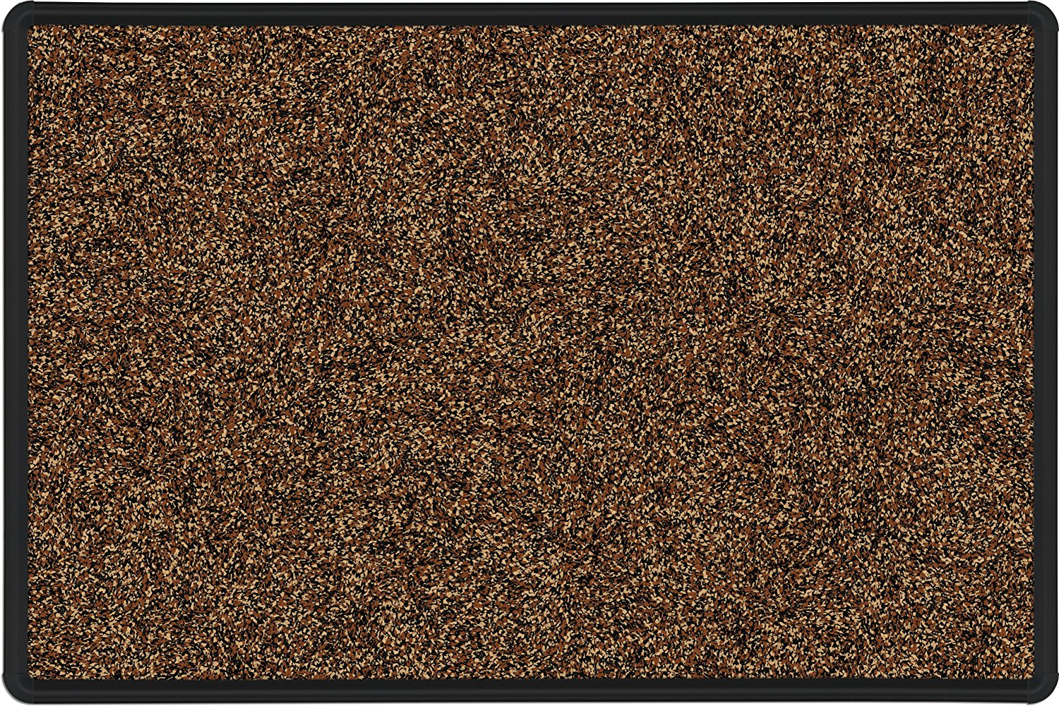 Best-Rite Presidential Trim Rubber-Tak Tackboard, Black Trim, 4 x 8 Feet, Tan (321PH-T1-95)