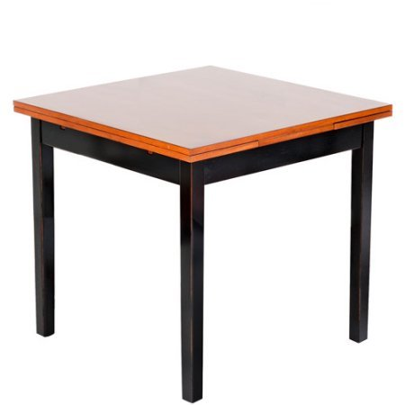 Stylish and Functional Versatile Dining Table, Beautiful Black and Java FInish, Enhances Your Dining Room, Durably Constructed Out of Both Select Hardwoods and Veneers + Expert Guide