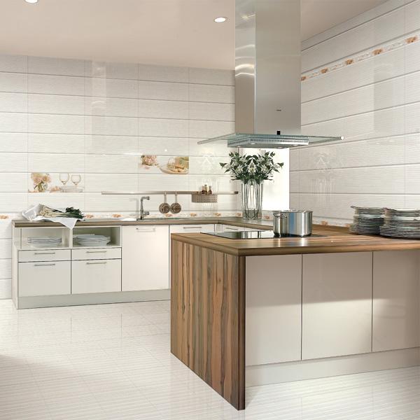 2017 New Super Ceramic Pure White Kitchen Wall Tiles Floor