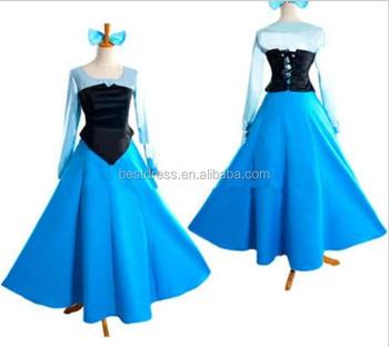 eed4aff160b Ariel Mermaid Princess Dress Little Mermaid Dress Up Cosplay Costume Adult