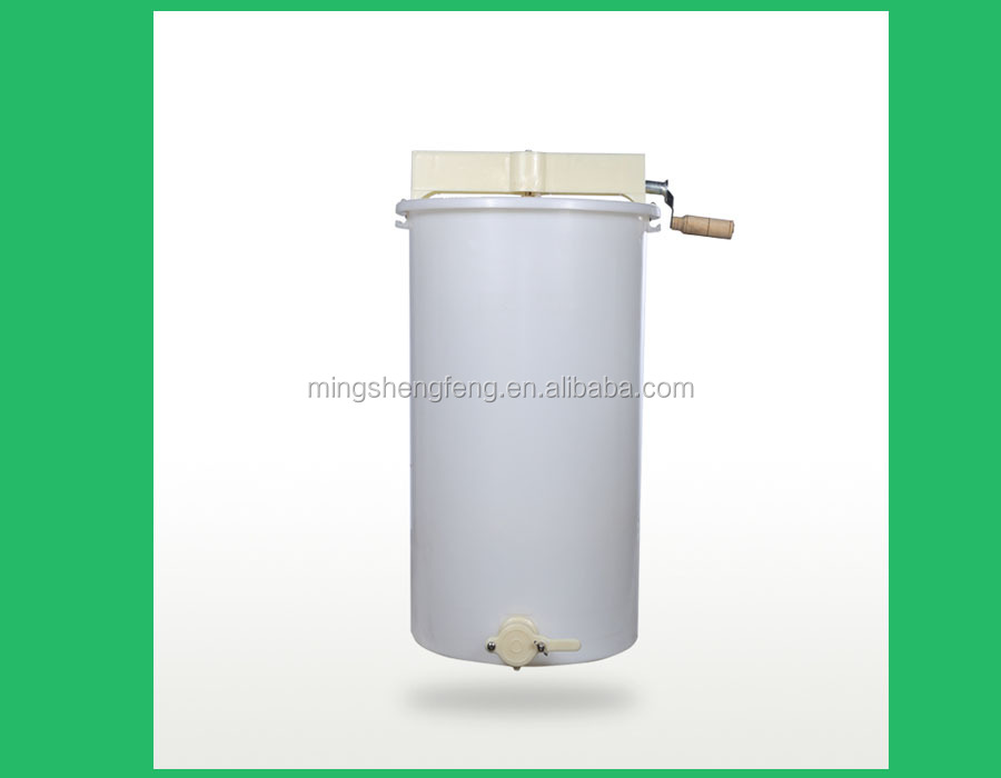 2016 Chinese hot sale Non-pollution No crevice 2 frame plastic honey extractor with flow closure