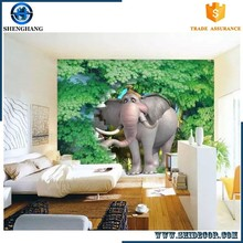 Best selling hot products new 3d wallpaper ceiling wall papers customized nature mural
