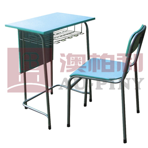 Fixed Single Desk & Chair with Modesty Panel & Basket