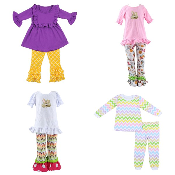 First impressions baby clothes remake rabbit outfit toddler easter clothing set children pajama wholesale bunny outfit kid