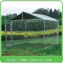 manufacturer wholesale backyard metal galvanized chain link solid metal dog kennel