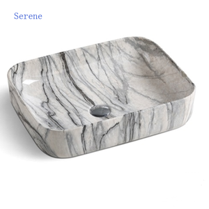 ceramic bathroom sinks lavatory square natural marble basin sink