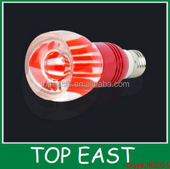 E27 Red Crystal Glass Lamp 3w Rgb 16 Color Changing Rgb Remote ...