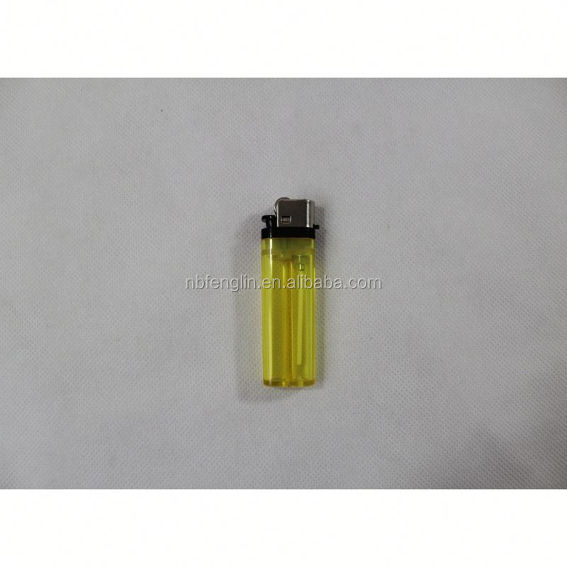 China factory cheap price FL-601 transparent color plastic disposable flint bic j26 maxi mini lighter
