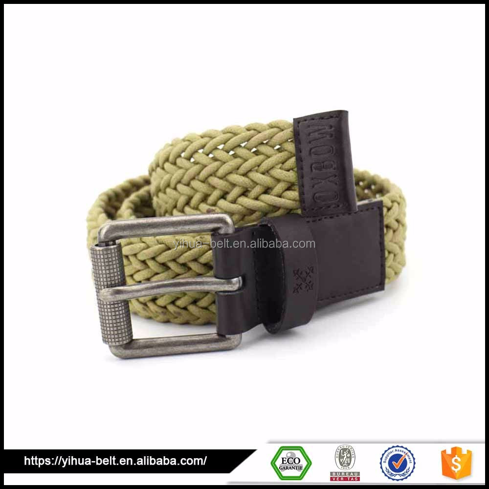 High Quality Custom Business Black fashion canvas belts