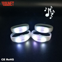 New Business Ideas Party Decoration Sound Activated Light Up LED Bracelets With Led Voice Control Led Bracelet Flashlight