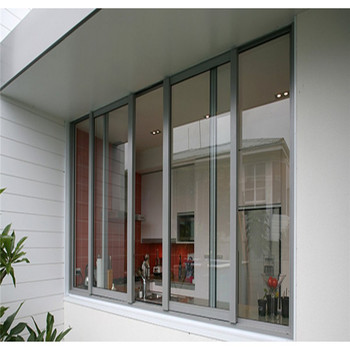 3 tracks sliding window double glazed aluminum sliding windows drawing