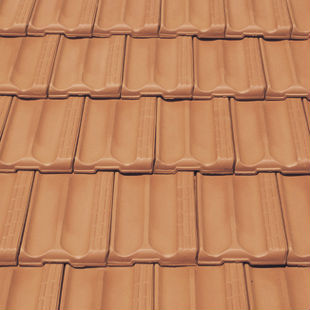 Spanish red marseilles flat ceramic roof tile made of for Flat clay tile roof