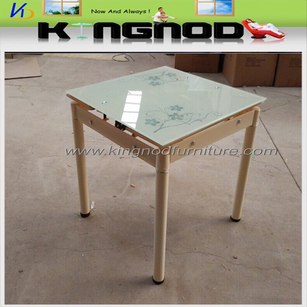 imported low price expandable adjustable glass dining table