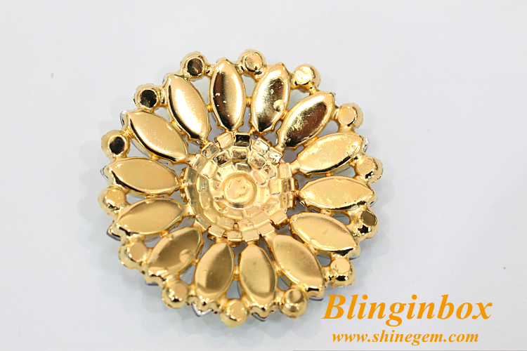 2018 new products sunflower shape crystal rhinestone wedding jewellery brooch