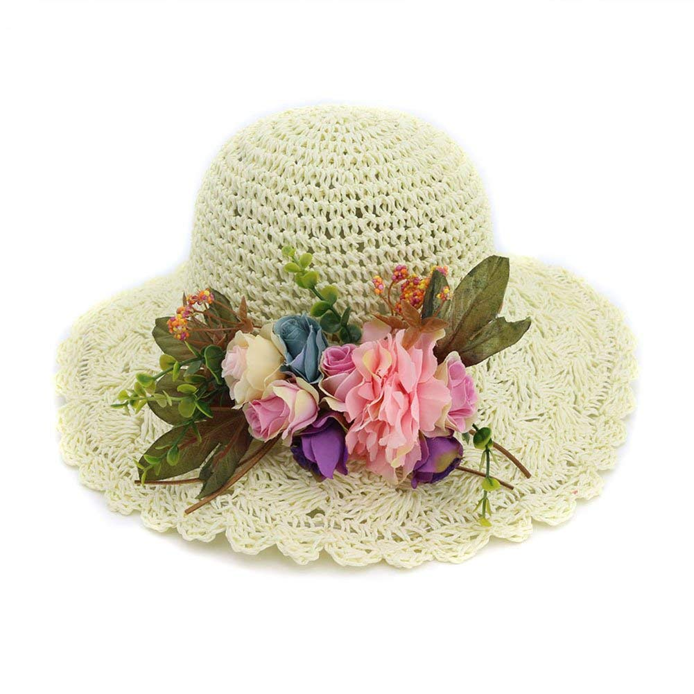 Get Quotations · Women s Vintage Holiday Straw Hat Sun Hat Korean Style  Hollow Straw Hat Pastoral Dome Fisherman Hat 2a9cf824f6c3