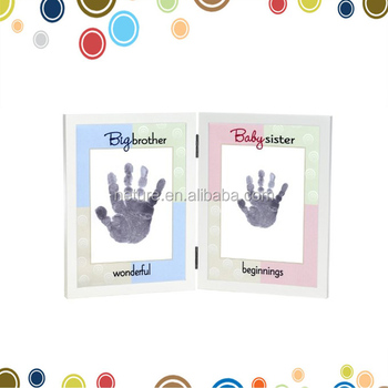 Baby Handprint And Footprint Photo Frame Baby Ink Print Kit Frame ...