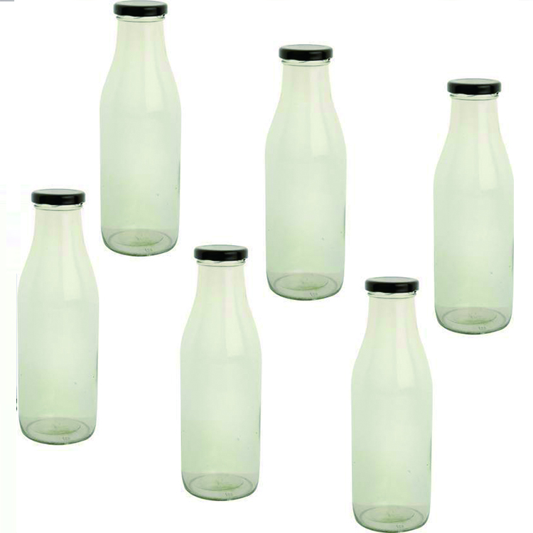 1L 1 Liter Kaca Botol Susu Custom Glass Botol Susu 1000 Ml