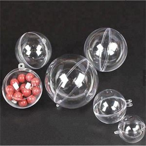 Factory sale Plastic Clear Ball, Plastic Transparent Ball with opened