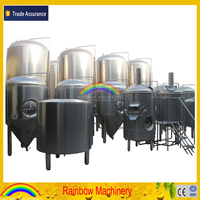 10bbl beer brewing equipment, beer brewery equipment, beer fermentation tank with dimple plate cool jacket