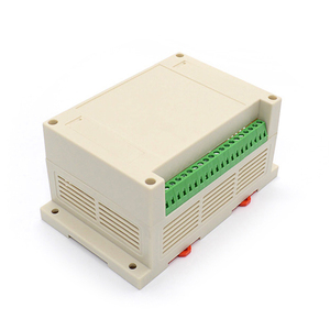 electronics plastic din rail mount enclosure with terminal blocks