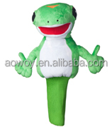 2016 HOT selling plush frog golf cover stuffed frog animal toy