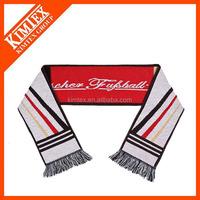 Wholesale custom jacquard style acrylic sport fan scarf