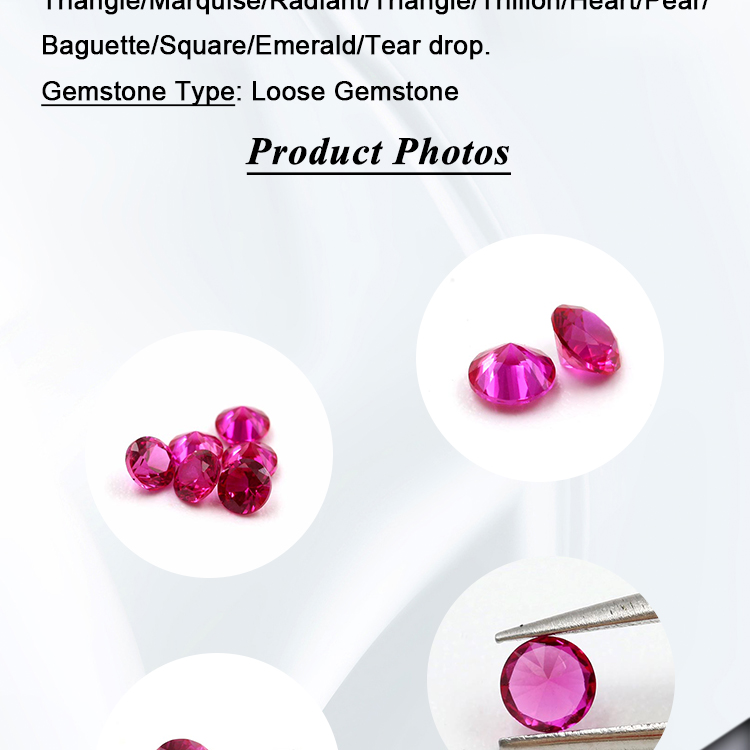 Synthetic ruby lab create ruby round shape
