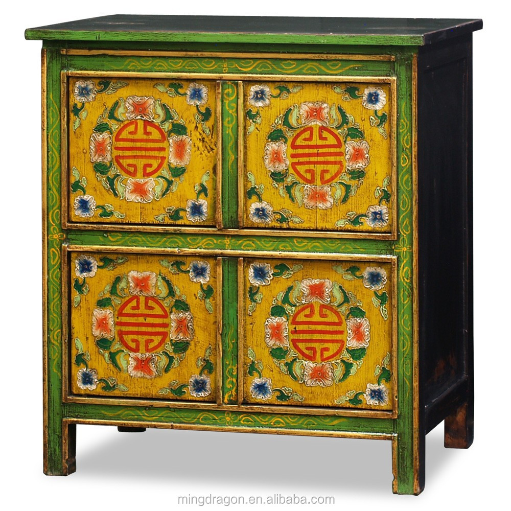 Merveilleux Chinese Antique Furniture Tibetan Painted Cabinet   Buy Hand Painted Tibetan  Cabinet,Chinese Antique Drawing Shoe Cabinet,Distressed Recycle Wood  Sideboard ...