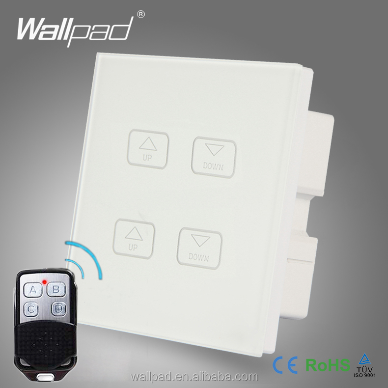 Hot Sales Wallpad White Crystal Glass Led Light Wireless Remote 4