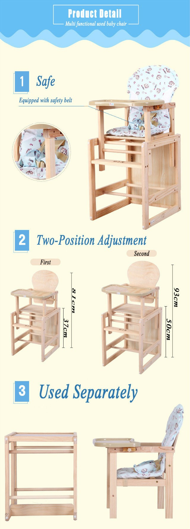 Admirable 2 In 1 Separated Baby High Chair Baby Chair Caraccident5 Cool Chair Designs And Ideas Caraccident5Info