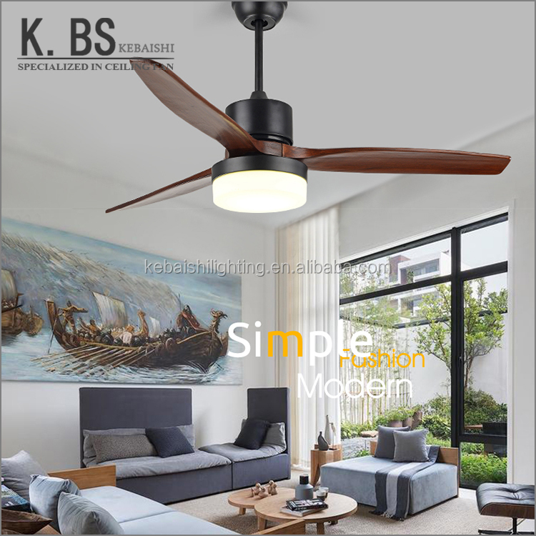 High Quality Cooling Vintage Decorative Light And Remote Ceiling Fan Lamp For Home