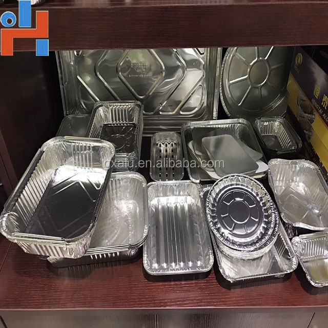 aluminum foil cover of plastic coated aluminum foil container and aluminum foil pans with lids